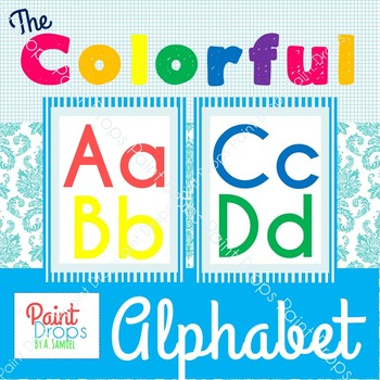 The Colorful Alphabet Poster Pack {Classroom Decor}