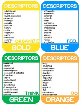 The Colorful Classroom Kit - Personality Styles in the Classroom