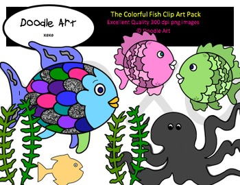 The Colorful Fish Clipart Pack