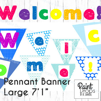 The Colorful WELCOME! Pennant Banner - Large {Back to School Classroom Decor}