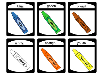 The Colors Concentration Card Game ESL Vocabulary