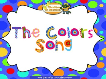 The Colors Song – Songbook Mp3 Digital Download