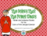 The Colors That the Priest Wears Color-by-Number Booklet in Blank