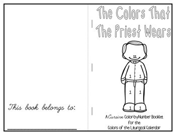 The Colors That the Priest Wears Color-by-Number Booklet in Cursive