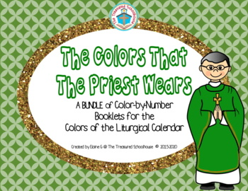 The Colors That the Priest Wears Color-by-Number Booklets BUNDLE
