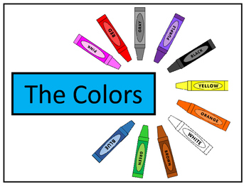The Colors Vocab Presentation, Emergent Reader and Colorin