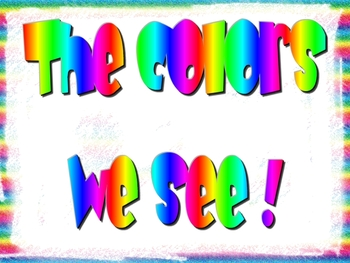 The Colors We See Book!!!