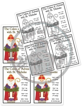 The Colors of Advent with St. Nicholas Cards