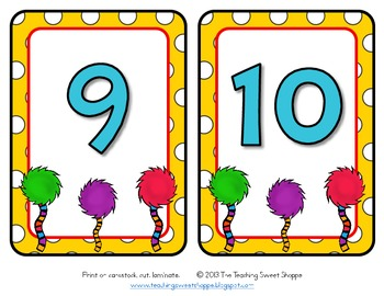 The Colors of Dr. S!  Alphabet & Numbers (Includes Ordinals, too!)