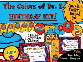 The Colors of Dr. S!  Classroom Birthday Kit