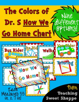 The Colors of Dr. S!  How We Go Home Clip Chart!