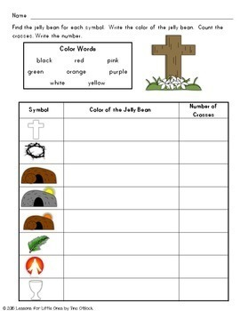 The Colors of Easter Jelly Bean Poem Christian Activities, Printable Book