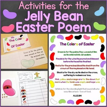 photo about Printable Colors identified as The Colours of Easter Jelly Bean Poem Christian Pursuits, Printable Ebook