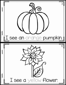 The Colors of Fall: Emergent Reader Freebie