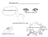The Colors of Me! Coloring Page