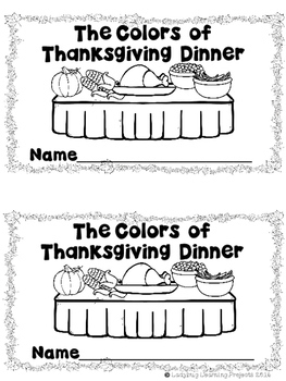 The Colors of Thanksgiving Dinner  (A Sight Reader and Teacher Lap Book)