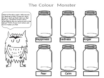 The Colour Monster Worksheets Teaching Resources Tpt
