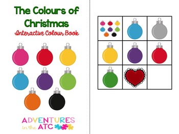 The Colours of Christmas Interactive Colour Book