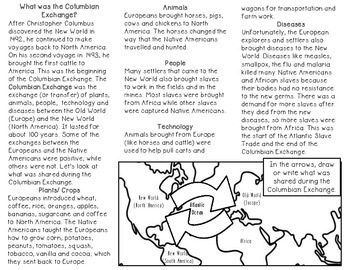 Columbian Exchange Brochure