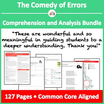 The Comedy of Errors – Comprehension and Analysis Bundle