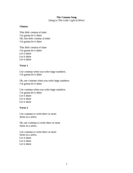 The Comma Song