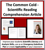 The Common Cold - A Science Reading Comprehension Resource