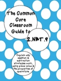 The Common Core Classroom Guide to 2.NBT.9: Explain addition & sub. strategies