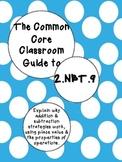 The Common Core Classroom Guide to 2.NBT.9: Explain additi