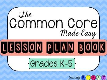 Common Core Teacher Planner Grades K-5
