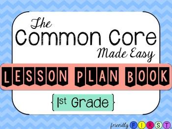 Common Core Teacher Planner 1st Grade