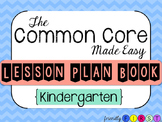 Common Core Teacher Planner Kindergarten