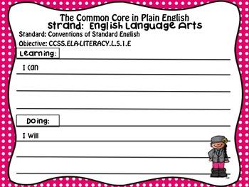 Common Core in Plain English: ELA Strand for 5th Grade