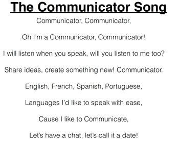 Communicator Song