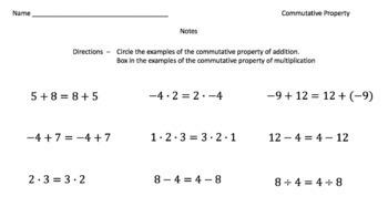 The Commutative Property (Google Form & Interactive Video Lesson!)