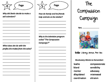 The Compassion Campaign Trifold - Storytown 5th Grade Unit 5 Week 5