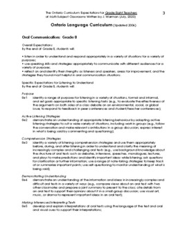 The Compete Ontario Curriculum for Grade Eight Teachers