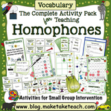 Homophones - The Complete Activity Pack