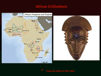 The Complete African Civilizations & Trading States PowerP