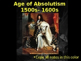 "The Complete ""Age of Absolutism"" Unit"