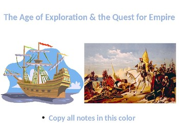 The Complete Age of Exploration and Quest for Empire PowerPoint Unit