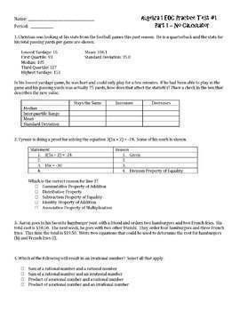 Complete Algebra 1 EOC Preparation Bundle