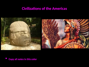The Complete Civilizations of the Americas Powerpoint Unit