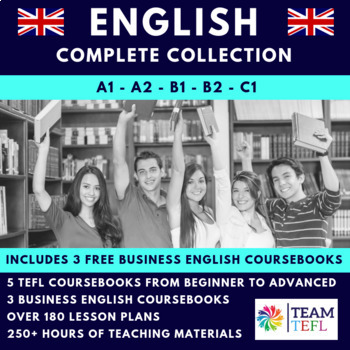 A1, A2, B1, B2, C1 And Business English ESL Course Books Bundle
