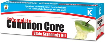 The Complete Common Core State Standards Kit Grade K SALE 20% OFF! 158168