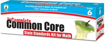 The Complete Common Core State Standards Kit for Math Grade 6 SALE 158051