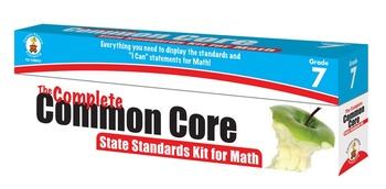 The Complete Common Core State Standards Kit for Math Grade 7 SALE 158052