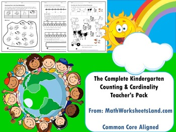 The Complete Core Aligned Kindergarten Counting & Cardinality Teacher's Pack