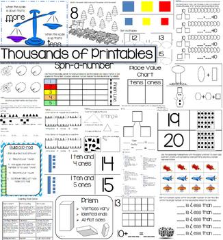 Growing Mega-Bundle of Full Math Curriculum for Kindergarten (Entire Year)