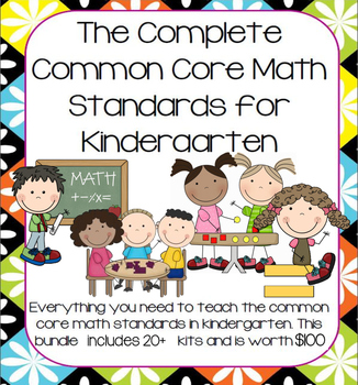Growing Mega-Bundle of Full Math Curriculum for Kindergarten (Entire Year)