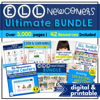ELL Newcomers Ultimate Bundle {A Yearlong Curriculum}